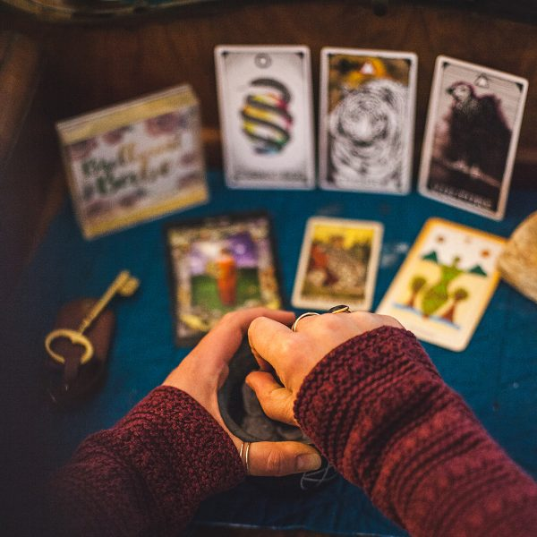 Tarot reading with Sharon Balsamo, witch with The Waking Journey in Bend, Oregon
